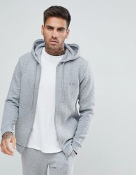 BOSS Contemporary Zip Thru Jacket in Quilted - Grey