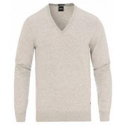 Boss Dicenzo V-Neck Pullover Open Grey Melange