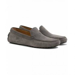 Boss Driver Moccasin Loafer Grey Suede