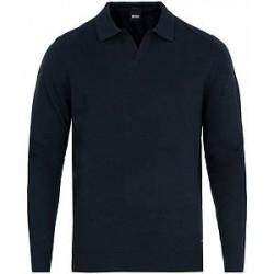 Boss Ecladiuo Wool/Cotton/Cashmere Pullover Dark Navy