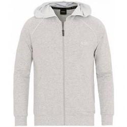 Boss Full Zip Logo Loungewear Hoodie Grey