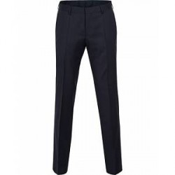 Boss Gibson Regular Fit Wool Trousers Dark Blue