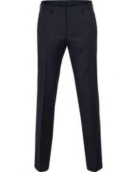Boss Gibson Regular Fit Wool Trousers Dark Blue men 50 Blå