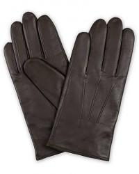 Boss Hainz Leather Gloves Dark Brown