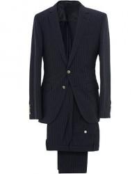Boss Helford/Gander Wool/Cotton Stripe Seersucker Suit Blue men 50