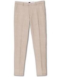 Boss Kaito Structured Cotton Trousers Khaki men 46 Beige