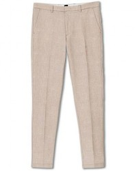 Boss Kaito Structured Cotton Trousers Khaki men 52 Beige