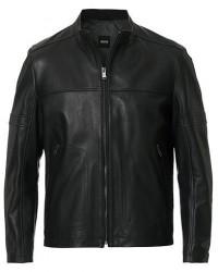Boss Nidan Leather Jacket Black men 50 Sort