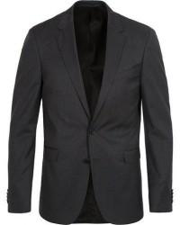 Boss Ryan Slim Fit Wool Blazer Charcoal men 48 Grå