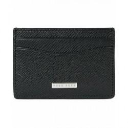 Boss Signature Leather Credit Card Holder Black