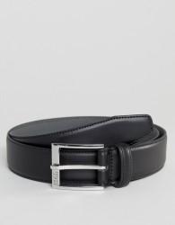 BOSS Smooth Leather Belt in Black - Black