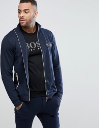 BOSS Tracksuit Zip Thru Jacket - Navy