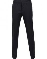 Boss Wave Slim Fit Wool Trousers Black men 46 Sort