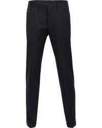Boss Wave Slim Fit Wool Trousers Black men 50 Sort