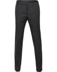 Boss Wave Slim Fit Wool Trousers Charcoal men 50 Grå