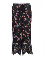 Botero Lace Mix Tie Waist Trouser