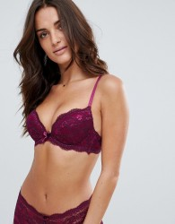 Boux Avenue Chloe Contrast Plunge Bra A-F Cup - Red