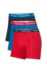 Boxershorts Noos Contrast Solids, 3-pak
