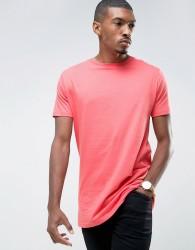 Brave Soul Bright Longline T-Shirt - Pink