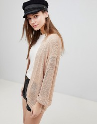 Brave Soul Japan Edge to Edge Cardigan - Beige