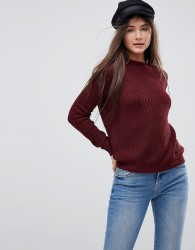 Brave Soul Lord Jumper With Cut Out Back Detail - Red
