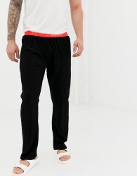 Brave Soul Lounge Pant with Neon Waistband - Black