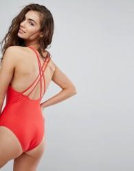 Brave Soul Scoop Back Swimsuit - Red
