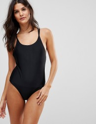 Brave Soul Scoop Neck Swimsuit - Black