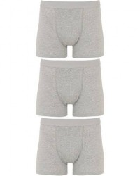 Bread & Boxers 3-Pack Boxer Brief Grey Melange men S Grå