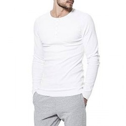 Bread & Boxers Bread and Boxers Henley - White - Large