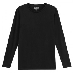 Bread & Boxers Bread and Boxers Long Sleeve Crew Neck - Black * Kampagne *