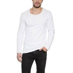 Bread & Boxers Bread and Boxers Long Sleeve Relaxed - White - X-Large