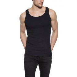 Bread & Boxers Bread and Boxers Tank Ribbed - Black * Kampagne *