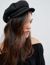 Brixton Baker Boy Hat in Black - Black