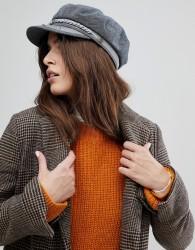 Brixton Baker Boy Hat in Slate - Grey