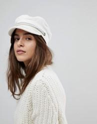 Brixton Baker Boy Hat in White Cord - White