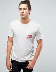 Brixton Carton Logo Pocket T-Shirt - Beige