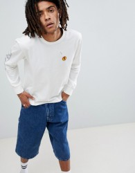 Brixton Fang Long Sleeve T-Shirt With Sleeve Print - White