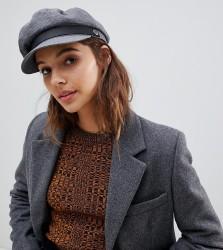 Brixton Grey Cotton Baker Boy Hat - Grey