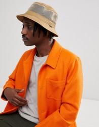 Brixton Hardy Bucket Hat With Mesh Panel - Beige