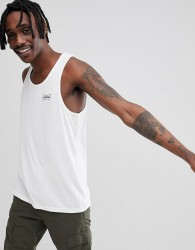 Brixton Missouri Vest With Small Logo - White