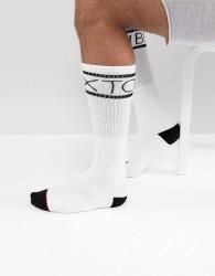 Brixton Tanner Sock In White - White