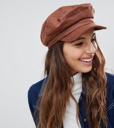 Brixton Unstructured Baker Boy Hat in Chestnut - Tan