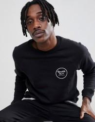 Brixton Wheeler Sweatshirt With Back Print - Black