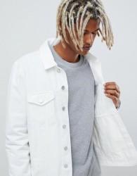 Brooklyn Supply Co denim jacket in white - White
