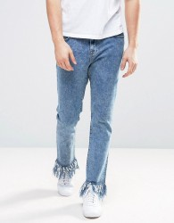 Brooklyn Supply Co Super Fray Detailing Jeans - Blue