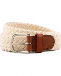 Brooks Brothers Novelty Braided Belt Oatmeal men L
