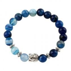 Buddha armbånd - Lykkearmbånd - Blå agat