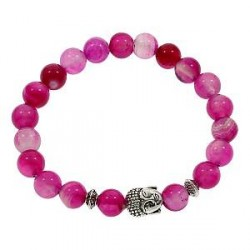 Buddha armbånd - Lykkearmbånd - Rosen agat