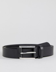 Burton Menswear Belt With Tab Detail In Black - Black